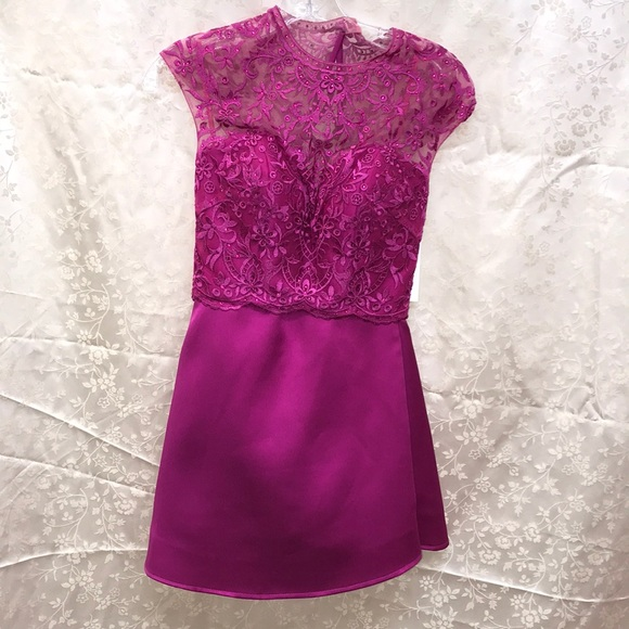 Mori Lee Dresses & Skirts - Fuchsia two piece dress size 0 NWT
